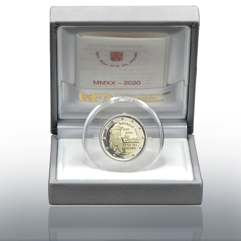 (EUR19.ComBU&BE.2020.CN1548) 2 euro Vatican 2020 Proof - Raffaello (case) (zoom)
