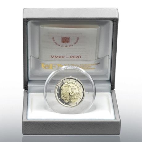 (EUR19.ComBU&BE.2020.CN1548) 2 euro commémorative Vatican 2020 BE - Raphaël (écrin)