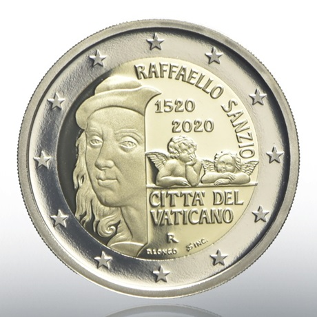(EUR19.ComBU&BE.2020.CN1548) 2 euro commémorative Vatican 2020 BE - Raphaël Avers