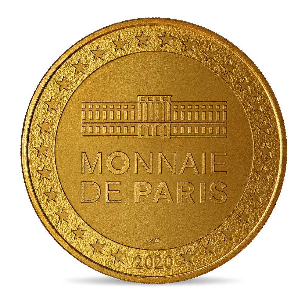 (FMED.Méd.souv.2020.10011350970000) Token - Johnny Hallyday with a ruffle Reverse (zoom)