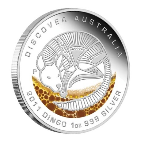 (W017.1.D.2011.1118DAAA) 1 Dollar Australie 2011 1 once argent BE - Dingo Revers