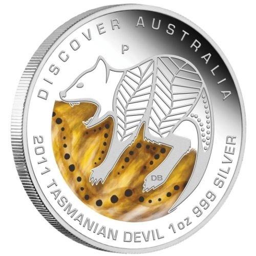 (W017.1.D.2011.1118DEAA) 1 Dollar Australia 2011 1 ounce Proof silver - Tasmanian devil Reverse (zoom)