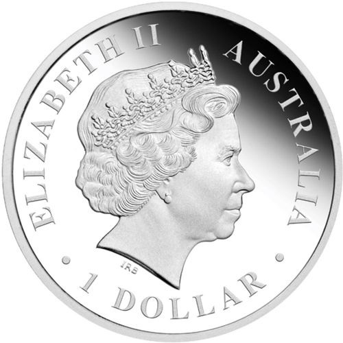(W017.1.D.2012.1218DAAA) 1 Dollar Australia 2012 1 ounce Proof silver - Green and gold bell frog Obverse (zoom)