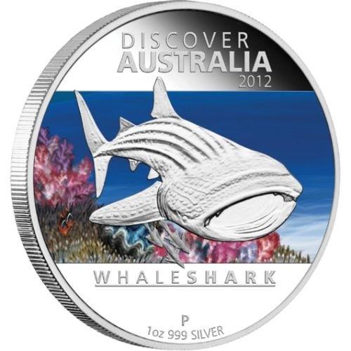 (W017.1.D.2012.1218DEAA) 1 Dollar Australia 2012 1 ounce Proof silver - Whale shark Reverse (zoom)