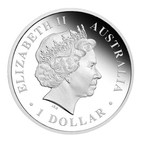 (W017.1.D.2012.1218DEAA) 1 Dollar Australie 2012 1 once argent BE - Requin baleine Avers