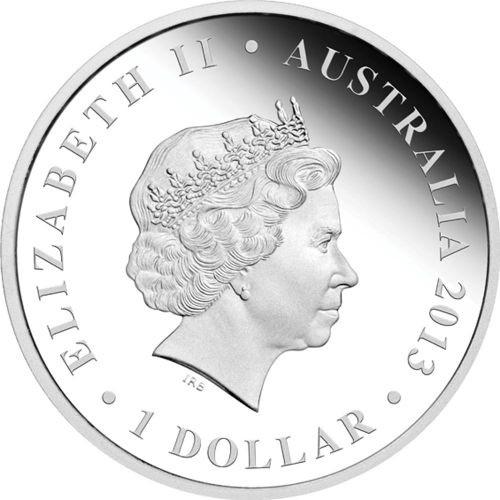 (W017.1.D.2013.131227DAAA) 1 Dollar Australia 2013 1 ounce Proof silver - Didgeridoo Obverse (zoom)
