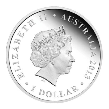(W017.1.D.2013.131227DAAA) 1 Dollar Australie 2013 1 once argent BE - Didjeridoo Avers