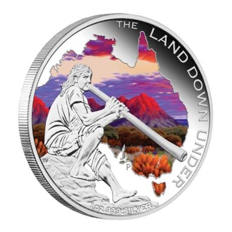 (W017.1.D.2013.131227DAAA) 1 Dollar Australie 2013 1 once argent BE - Didjeridoo Revers