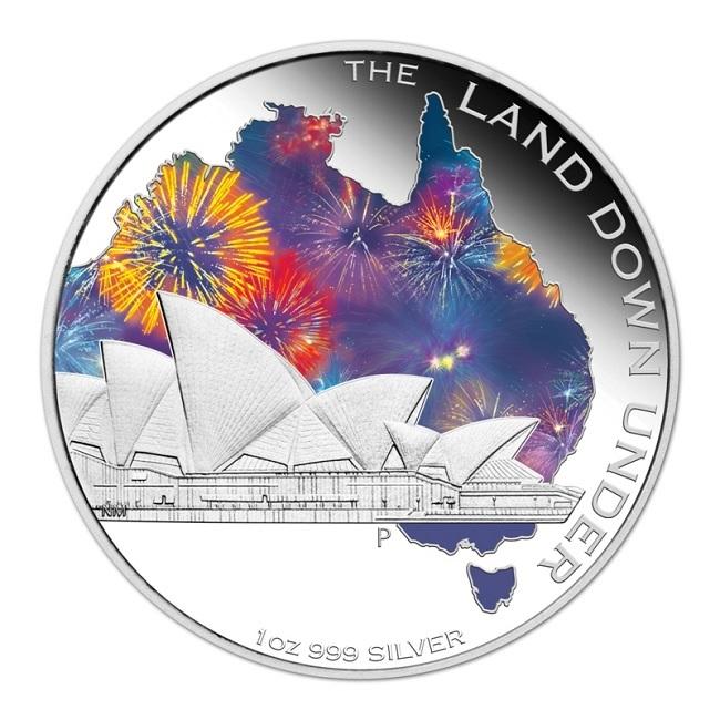 (W017.1.D.2013.131227DBAA) 1 Dollar Australia 2013 1 ounce Proof silver - Sydney Opera House Reverse (zoom)