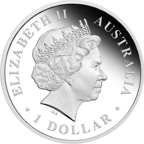 (W017.1.D.2013.1318DCAA) 1 Dollar Australia 2013 1 ounce Proof silver - Kangaroo Obverse (zoom)