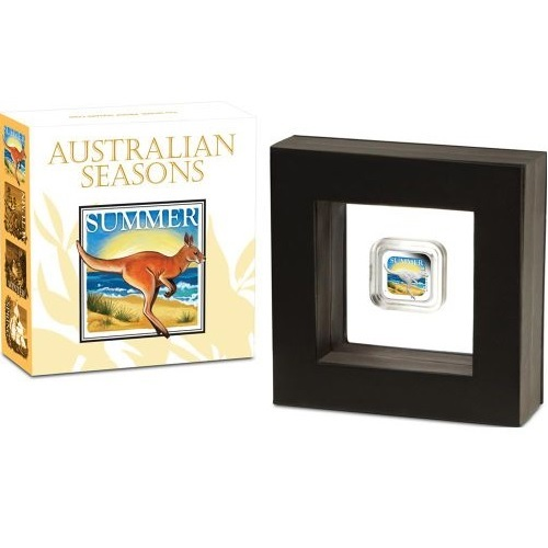 (W017.1.D.2013.13T37AAA) 1 Dollar Australia 2013 1 oz Proof Ag - Summer (packaging) (zoom)