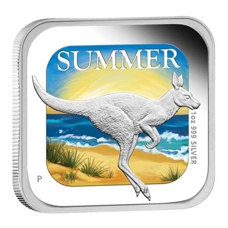 (W017.1.D.2013.13T37AAA) 1 Dollar Australie 2013 1 once argent BE - Eté Revers