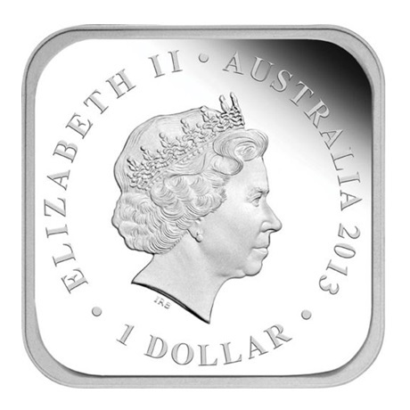 (W017.1.D.2013.13T37BAA) 1 Dollar Australie 2013 1 once argent BE - Automne Avers