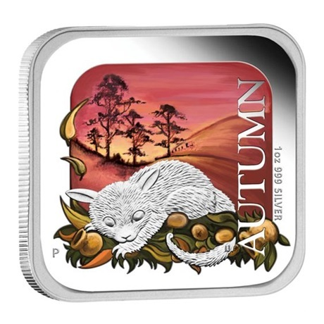 (W017.1.D.2013.13T37BAA) 1 Dollar Australie 2013 1 once argent BE - Automne Revers