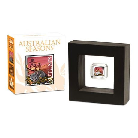 (W017.1.D.2013.13T37BAA) 1 Dollar Australie 2013 1 oz Ag BE - Automne (packaging)
