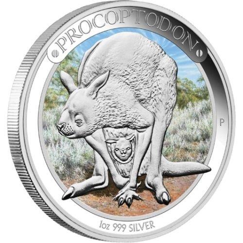 (W017.1.D.2013.13U09AAA) 1 Dollar Australia 2013 1 ounce Proof silver - Procoptodon Reverse (zoom)
