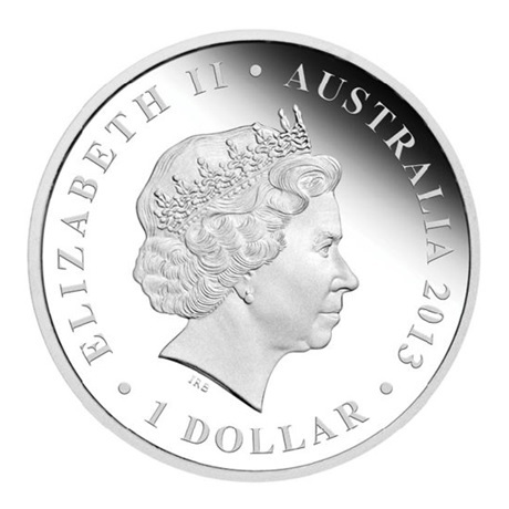 (W017.1.D.2013.13U09AAA) 1 Dollar Australie 2013 1 once argent BE - Procoptodon Avers