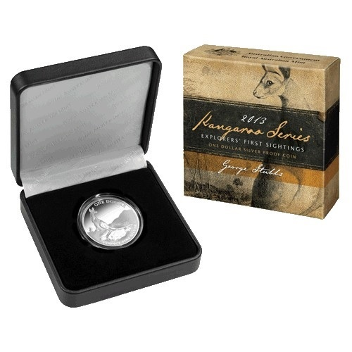 (W017.1.D.2013.210103) 1 Dollar Australia 2013 1 oz Proof Ag - Kangaroo (packaging) (zoom)