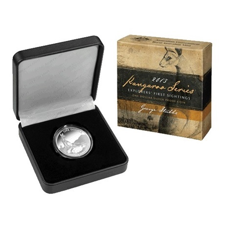 (W017.1.D.2013.210103) 1 Dollar Australie 2013 1 once argent BE - Kangourou (packaging)