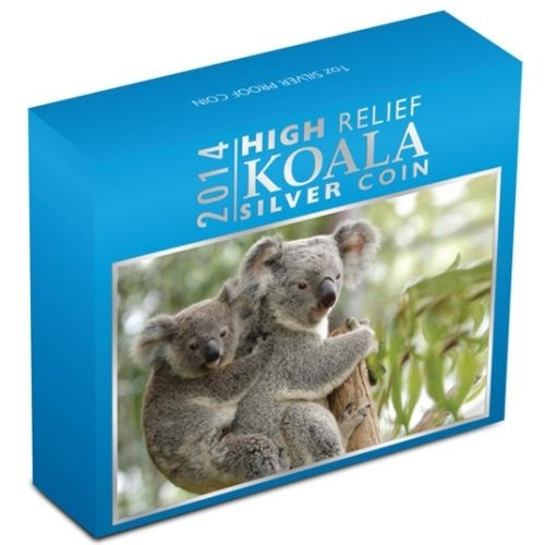 (W017.1.D.2014.1437DAAA) 1 Dollar Australia 2014 1 ounce Proof Ag - Australian Koala (box) (zoom)