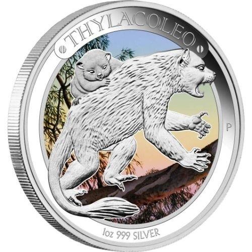 (W017.1.D.2014.14U18CAA) 1 Dollar Australia 2014 1 ounce Proof silver - Thylacoleo Reverse (zoom)