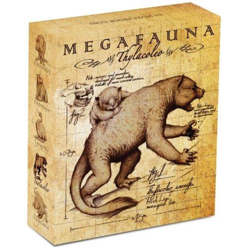 (W017.1.D.2014.14U18CAA) 1 Dollar Australia 2014 1 oz Proof Ag - Thylacoleo (box) (zoom)