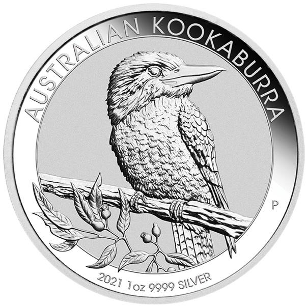 (W017.100.2021.1.oz.Ag.2) 1 Dollar Australia 2021 1 oz silver - Australian Kookaburra Reverse (zoom)
