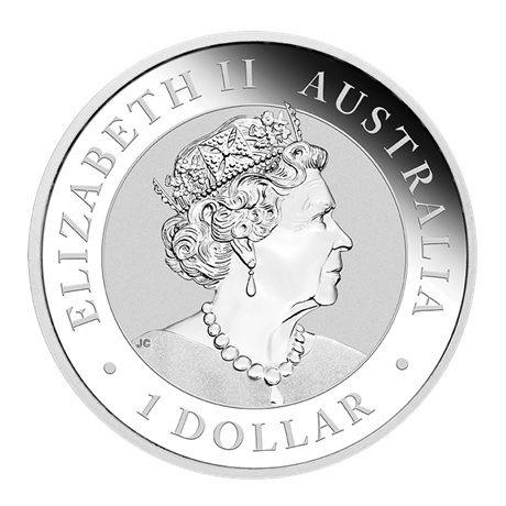 (W017.100.2021.1.oz.Ag.2) 1 Dollar Australie 2021 1 once argent - Kookaburra Avers