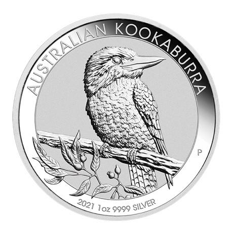 (W017.100.2021.1.oz.Ag.2) 1 Dollar Australie 2021 1 once argent - Kookaburra Revers