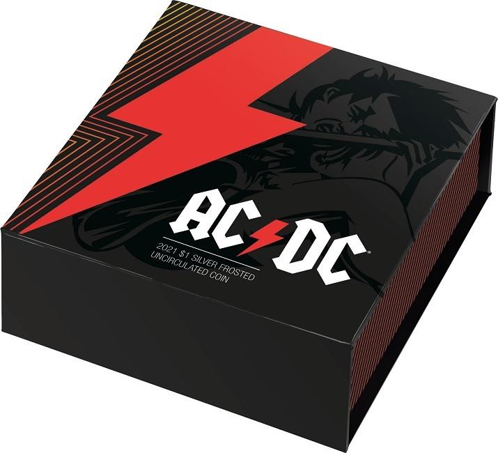 (W017.100.2021.10624) 1 Dollar AC DC 2021 - BU silver (closed) (zoom)