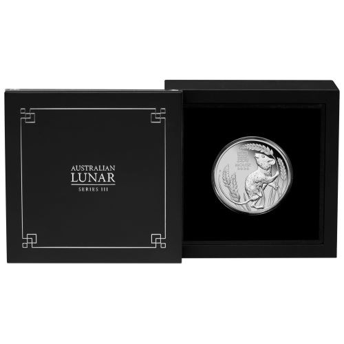 (W017.100.D.2020.3S2019DAAA) 100 Dollars Australia 2020 1 ounce Proof Pt - Year of the Rat (case) (zoom)