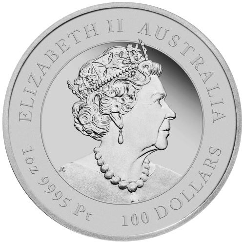 (W017.100.D.2020.3S2019DAAA) 100 Dollars Australia 2020 1 oz Proof platinum - Year of the Rat Obverse (zoom)