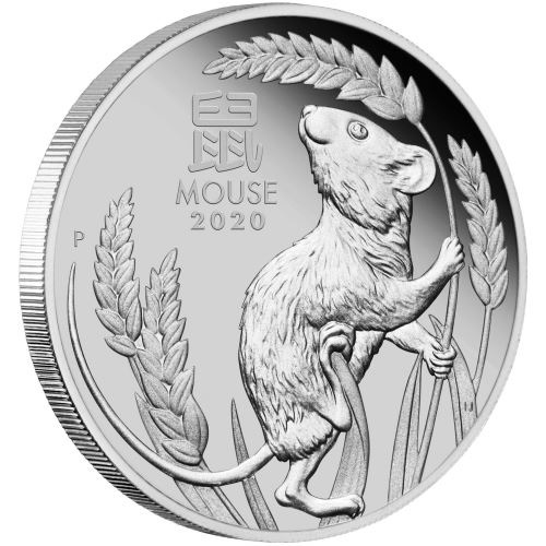 (W017.100.D.2020.3S2019DAAA) 100 Dollars Australia 2020 1 oz Proof platinum - Year of the Rat Reverse (zoom)
