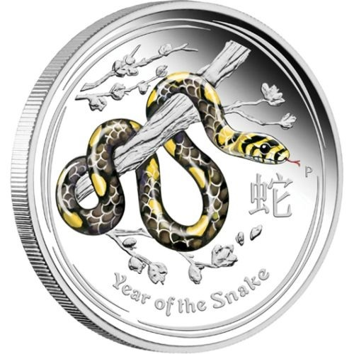 (W017.50.C.2013.2S1316EDAA) 50 Cents Australia 2013 0.50 ounce Proof silver - Year of the Snake Reverse (zoom)