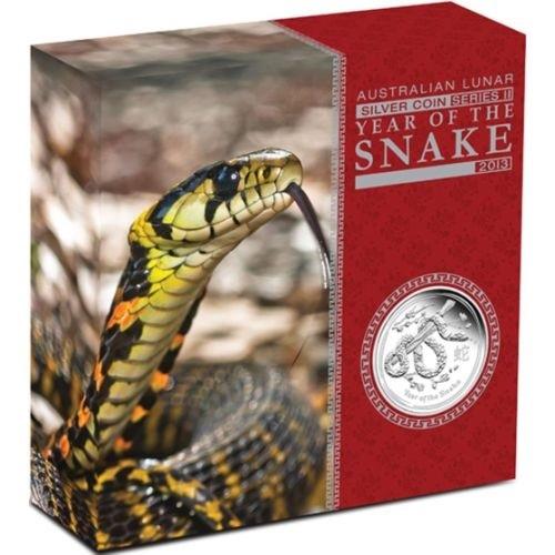 (W017.8.D.2013.2S1316KAAA) 8 Dollars Australia 2013 5 oz Proof Ag - Year of the Snake (box) (zoom)