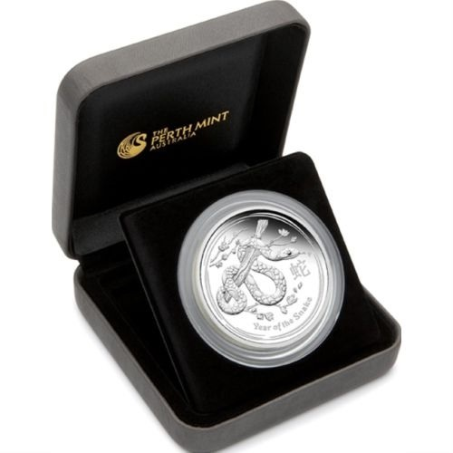 (W017.8.D.2013.2S1316KAAA) 8 Dollars Australia 2013 5 oz Proof Ag - Year of the Snake (case) (zoom)