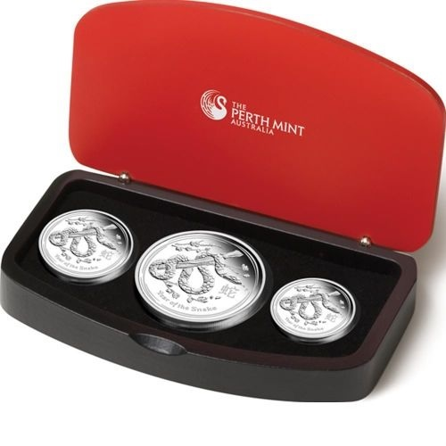 (W017.set.2013.2S1316ZBAA) Triptych Australia 2013 Proof silver - Year of the Snake (case) (zoom)