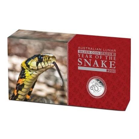 (W017.set.2013.2S1316ZBAA) Triptyque Australie 2013 argent BE - Année du Serpent (boîte)