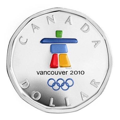 (W037.1.D.2010.6249610) 1 Dollar Jeux olympiques hiver 2010 - Argent BE Revers
