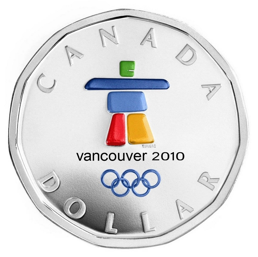 (W037.1.D.2010.6249610) 1 Dollar Vancouver Winter Games 2010 - Proof silver Reverse (zoom)
