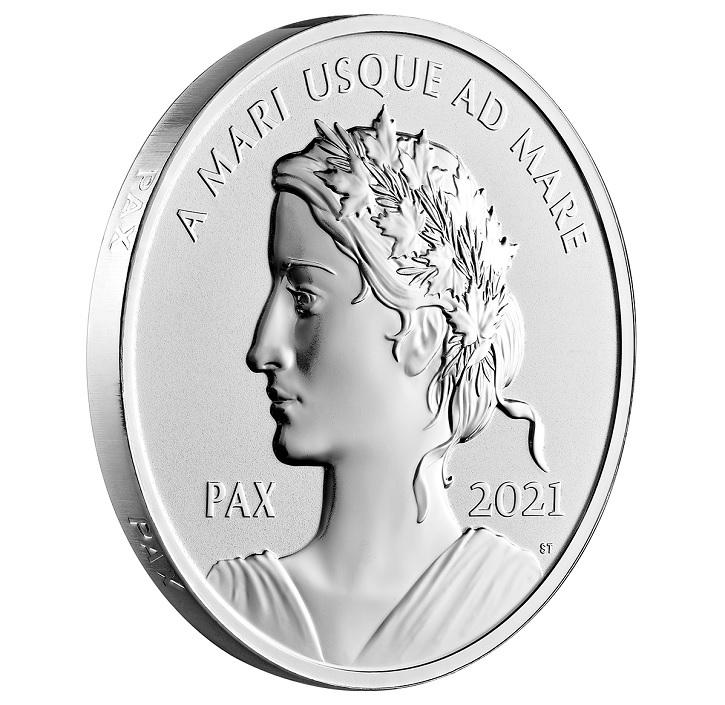 (W037.1.D.2021.179014) 1 Dollar Peace 2021 - Proof Ag (edge) (zoom)