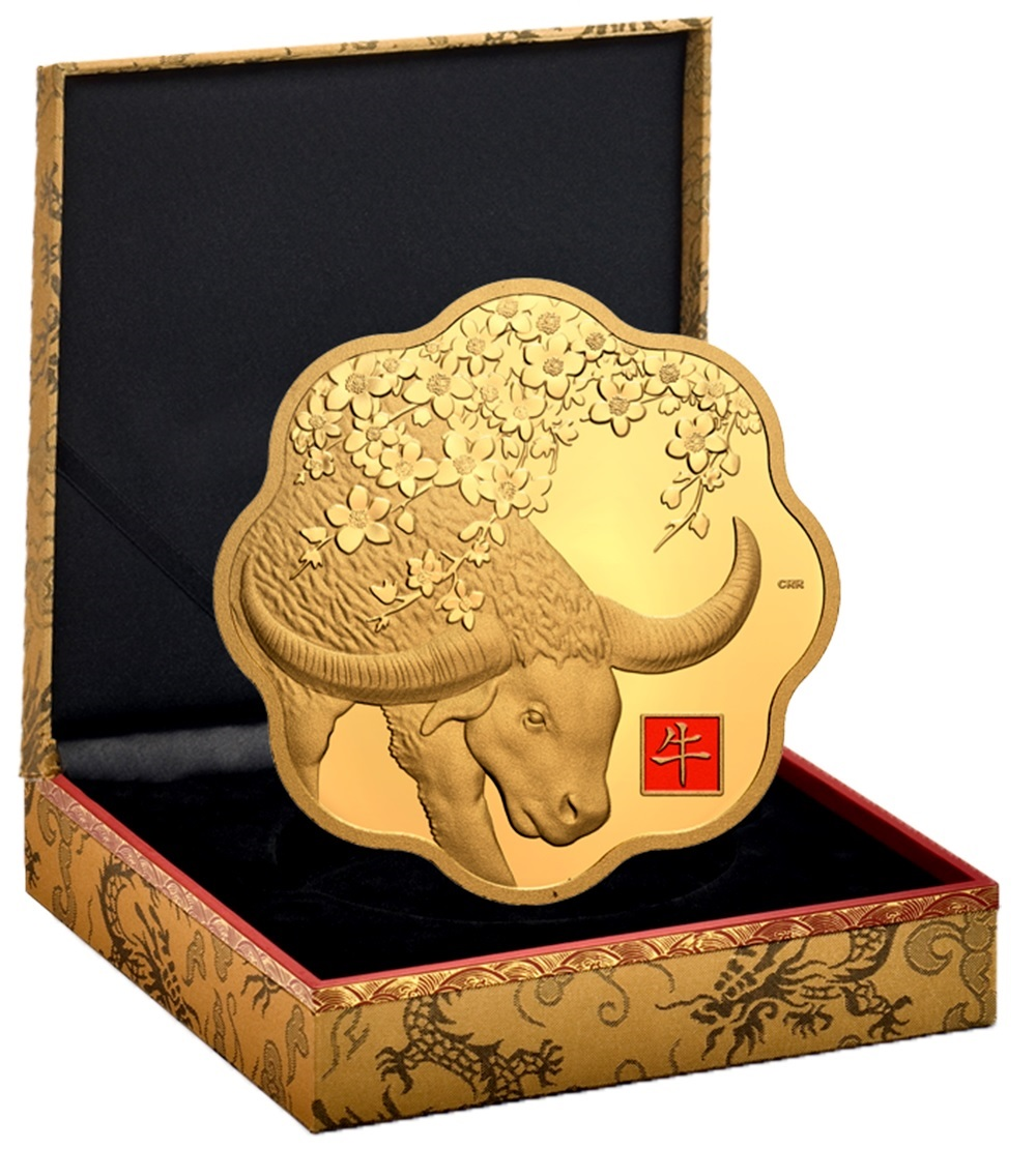 (W037.2500.D.2021.177794) 2500 Dollars Year of the Ox 2021 - Proof Au (case) (zoom)