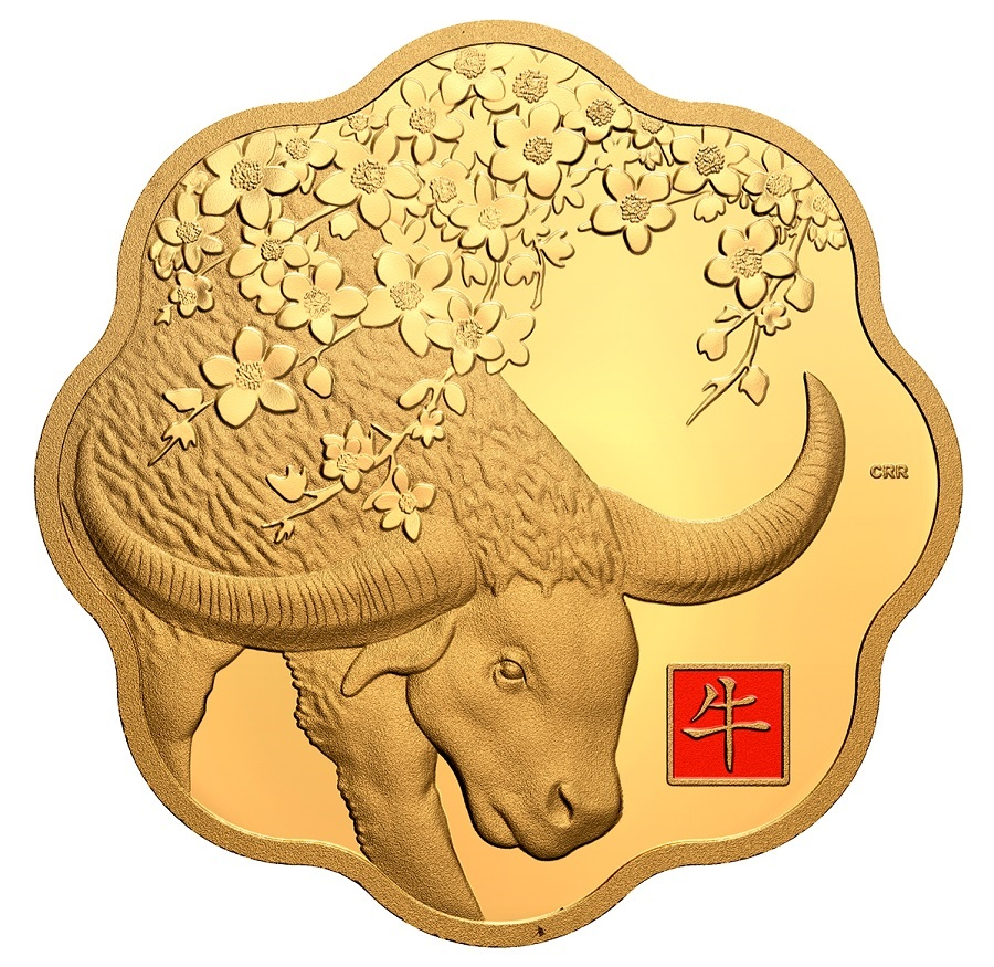 (W037.2500.D.2021.177794) 2500 Dollars Year of the Ox 2021 - Proof gold Reverse (zoom)