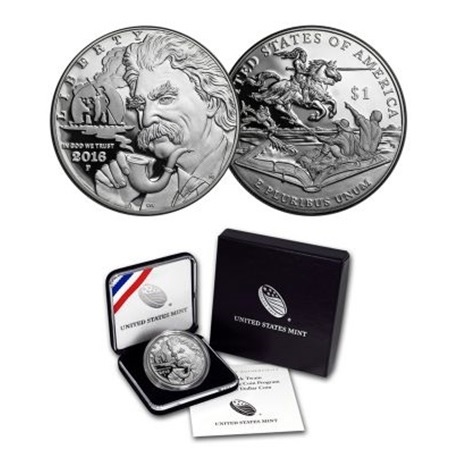 (W071.1.D.2016_P.1) 1 Dollar Mark Twain 2016 P - Ag BE (packaging)