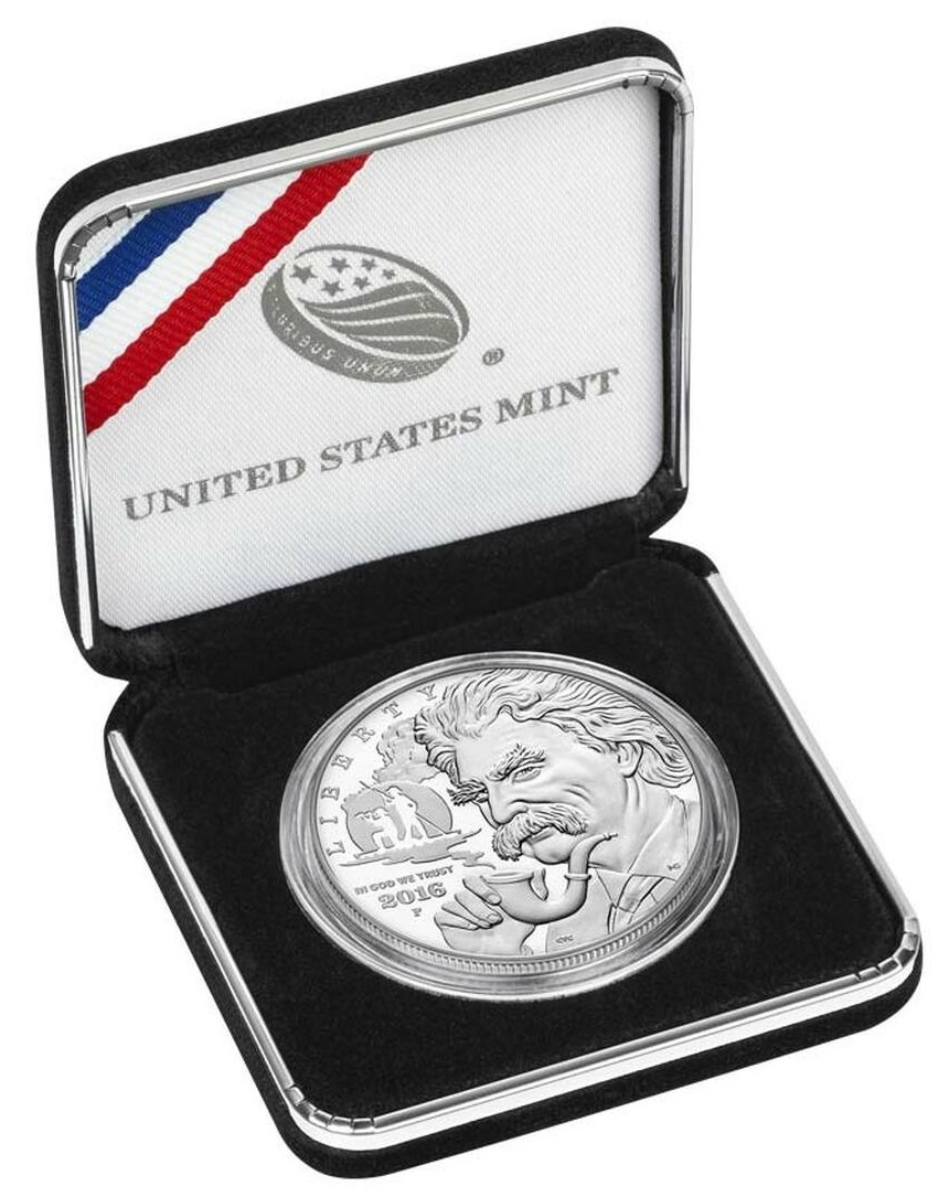 (W071.1.D.2016_P.1) 1 Dollar Mark Twain 2016 P - Proof Ag (case) (zoom)