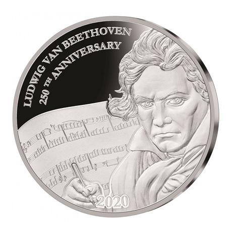 (W073.1.D.2020.1.oz.Ag.1) 1 Dollar Fidji 2020 1 once argent BE - Beethoven Revers
