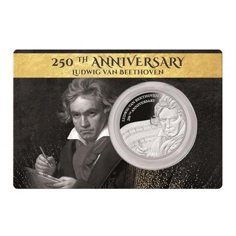 (W073.1.D.2020.1.oz.Ag.1) 1 Dollar Fidji 2020 1 oz Ag BE - Beethoven (packaging)