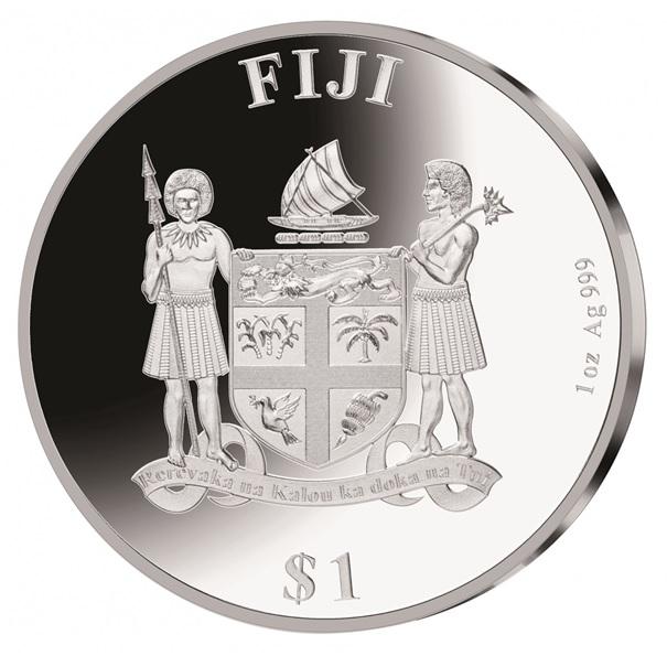(W073.1.D.2020.1.oz.Ag.1) 1 Dollar Fiji 2020 1 oz Proof silver - Ludwig Van Beethoven Obverse (zoom)