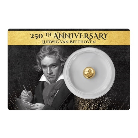 (W073.5.D.2020.0,50.g.Au.1) 5 Dollars Fidji 2020 0,50 gramme or BE - Beethoven Recto