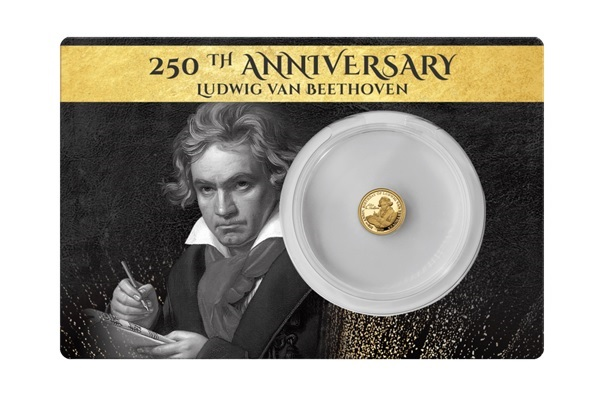 (W073.5.D.2020.0,50.g.Au.1) 5 Dollars Fiji 2020 0.50 gram Proof gold - Beethoven Front (zoom)